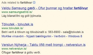 Google auglýsingar
