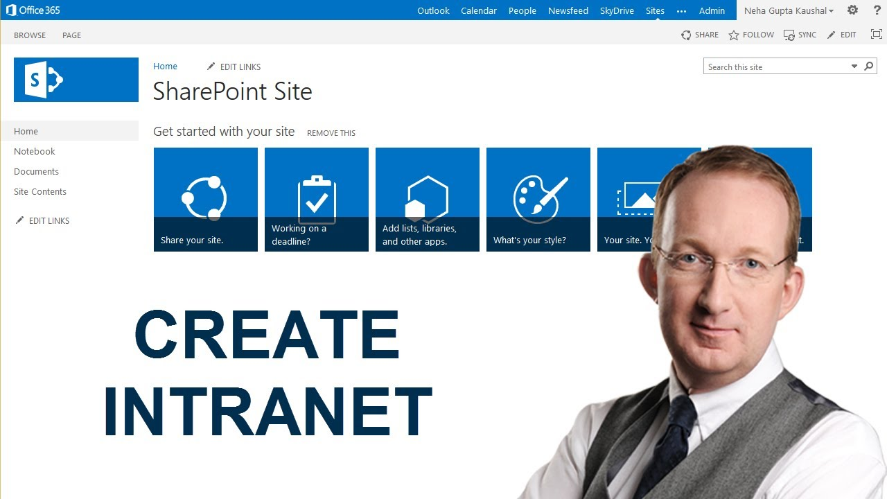 Published item in sharepoint