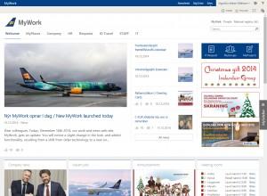Forsíða innri vefs Icelandair