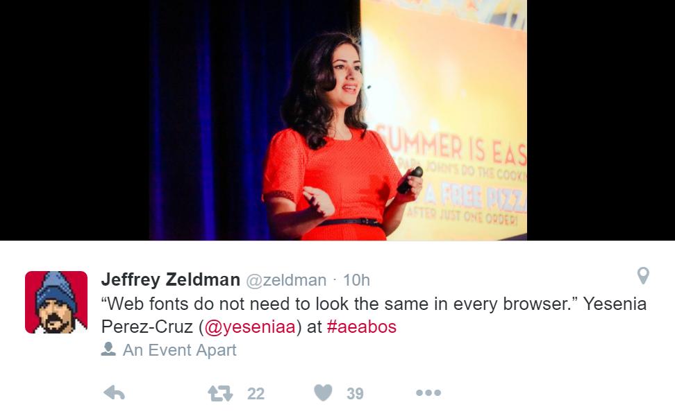 Yesenia Perez-Cruz á An Event Apart 2016