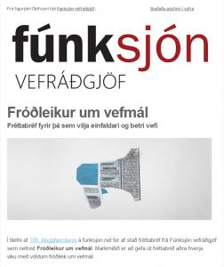 Fróðleikur um vefmál - Fréttabréf Fúnksjón