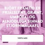 Vefur Bjartrar framtíðar í síma