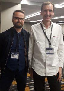 Sigurjón og Gerry McGovern